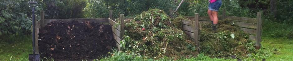 Vi städar komposterna